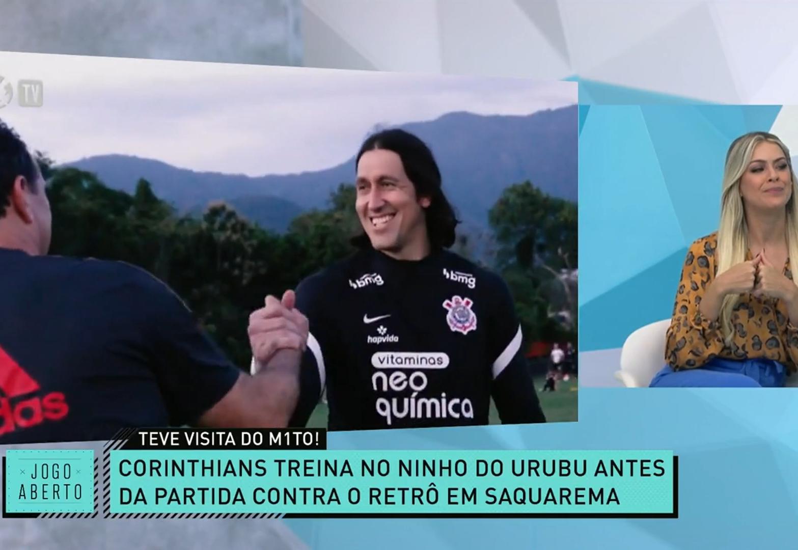 Agradeceu? Renata Fan imagina o que Rogério Ceni conversou com Cássio