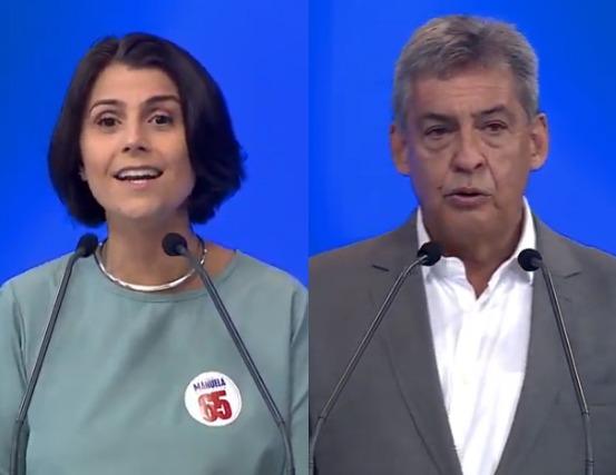 Manuela D'Ávila (PCdoB) e Sebastião Melo (MDB)