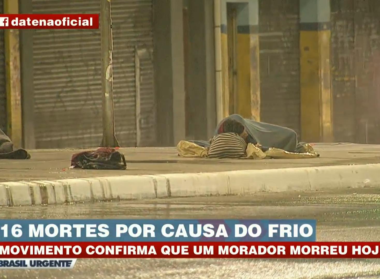 Mais um morador de rua é encontrado morto por suspeita de hipotermia em SP