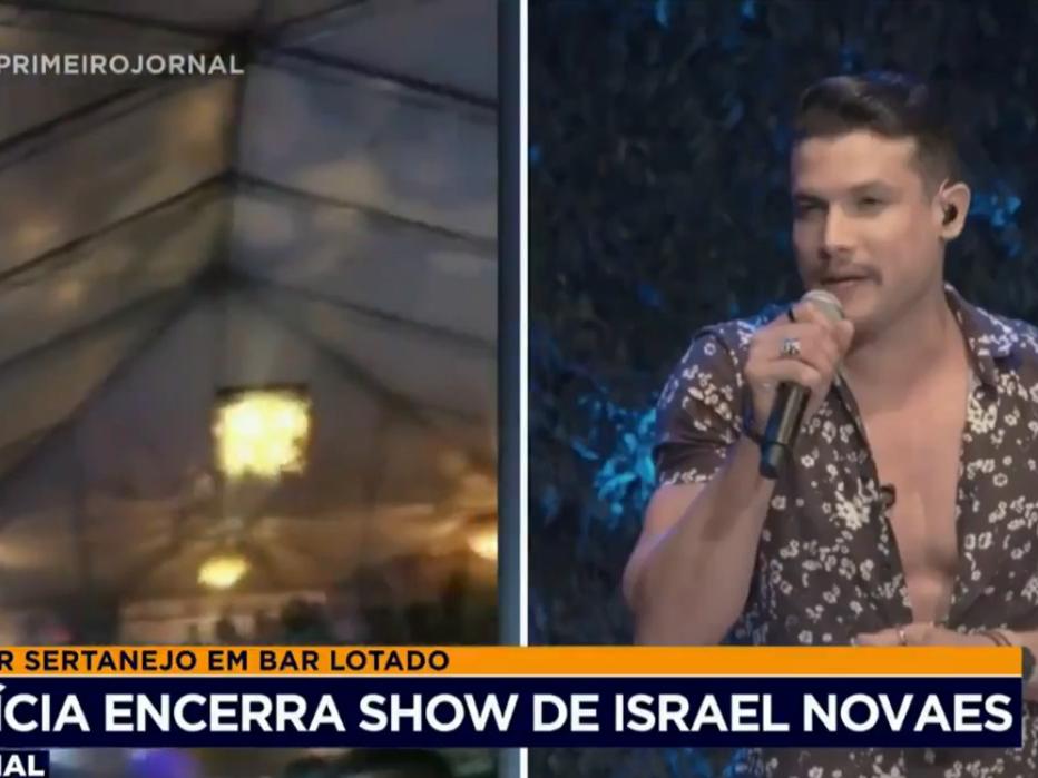 Polícia encerra show do cantor sertanejo Israel Novaes em Sinop (MT)