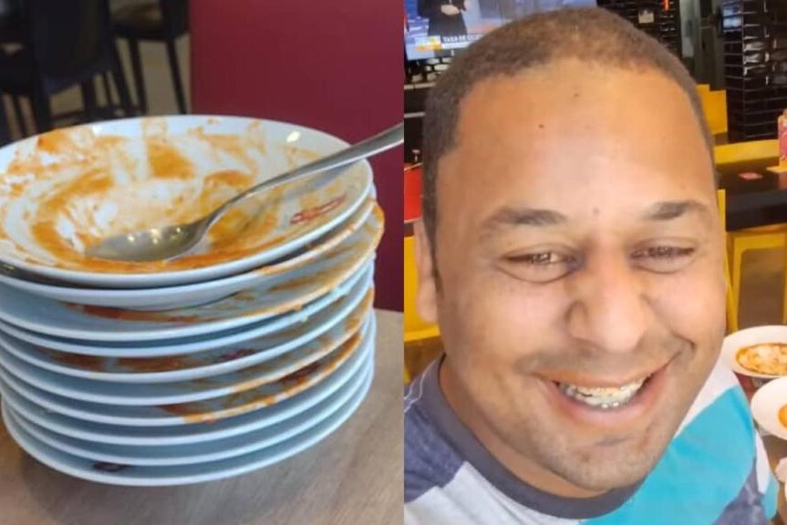 Homem diz que foi expulso de rodízio por comer demais e viraliza