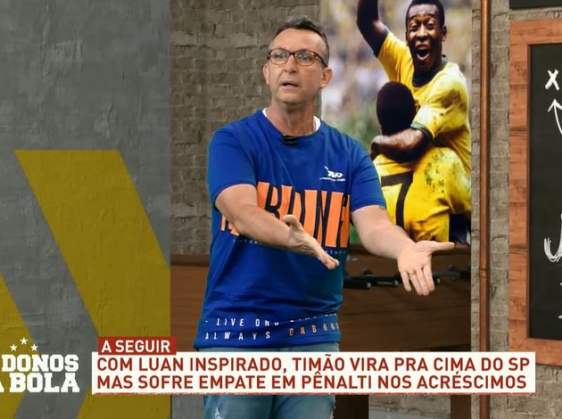 """Neto diz que São Paulo pipocou, elogia """"milagre"""" de Luan e detona Crespo"""