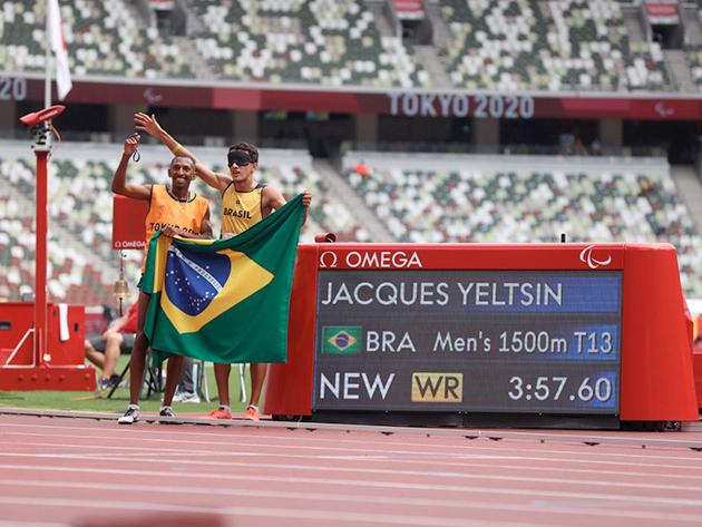 Com direito a novo recorde mundial, Yeltsin Jacques venceu a prova dos 1500m do atletismo