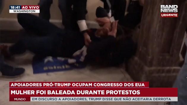 Mulher é baleada em invasão de manifestantes pró-Trump ao Capitólio