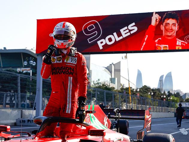 F1: Com domínio de bandeiras vermelhas em treino, Leclerc garante pole no Azerbaijão