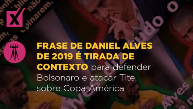 Declarações de Daniel Alves, em 2019, são usadas para atacar Tite após fala sobre Copa América deste ano