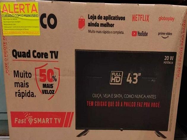 Ladrão arrependido compra TV de 43 polegadas para a vítima