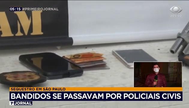 Criminosos que se passavam por policiais civis são presos por sequestro em SP