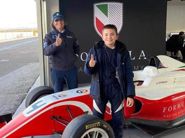 Emerson Fittipaldi se impressiona com filho na F-4 aos 14 anos