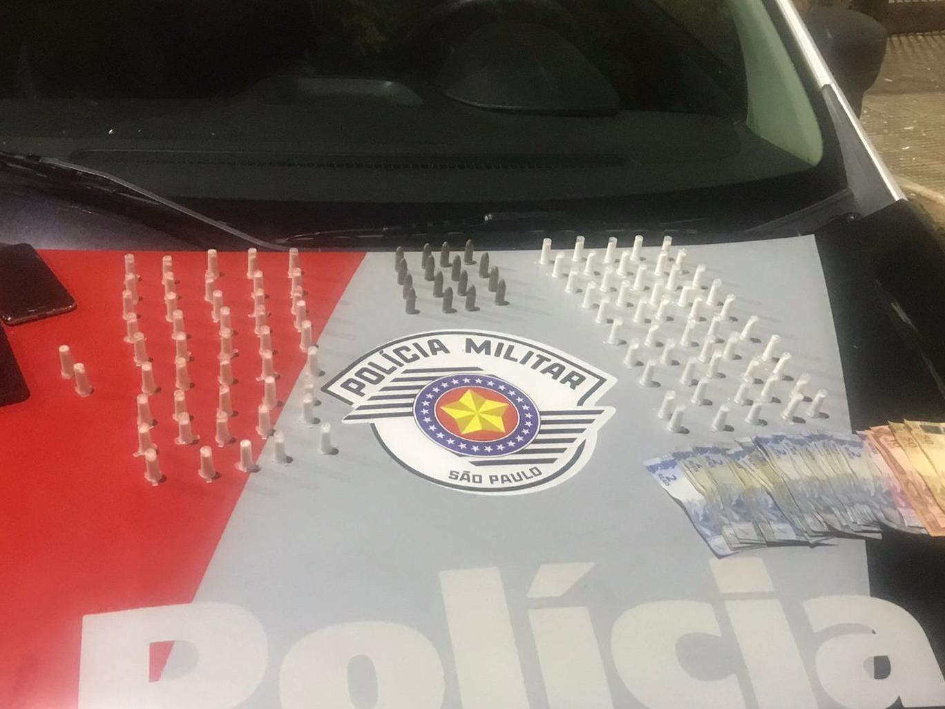 Drogas e munições foram apreendidas no Bairro São Gonçalo