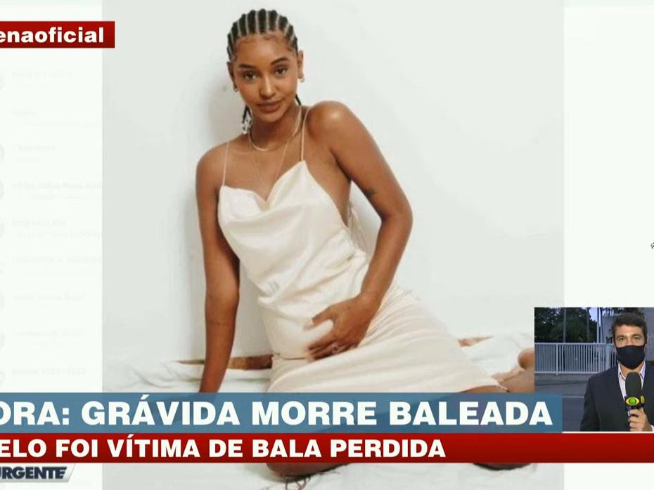 Modelo grávida morre após ser atingida por bala perdida no Rio