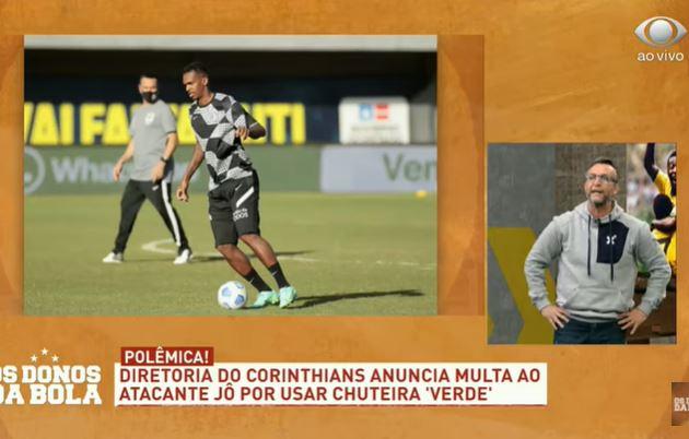 Neto diz que chuteira de Jô era azul e detona Corinthians por multa