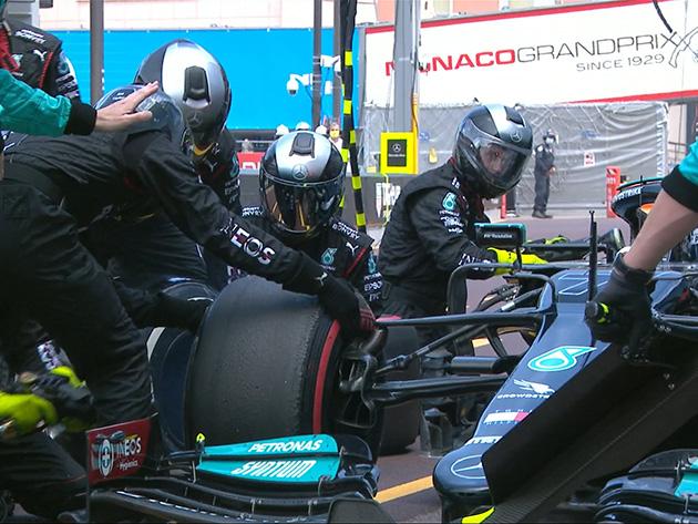 """Quatro dias depois, Mercedes finaliza """"pit stop"""" que tirou Bottas do GP de Mônaco"""