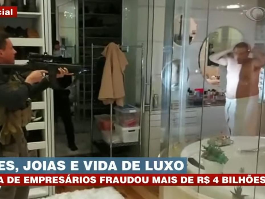 Chefe de quadrilha é preso de toalha em mansão no interior de São Paulo