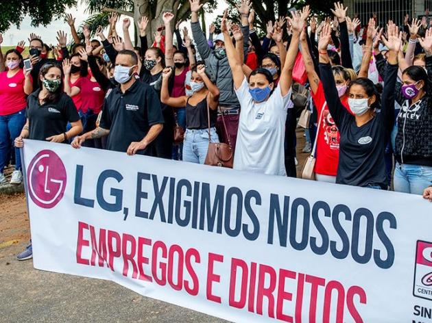 Onda de protestos pede a manutenção dos empregos da LG