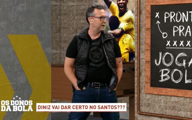 """Neto critica preleção de Diniz antes de vitória do Santos: """"Ridículo"""""""