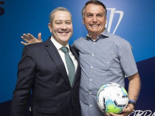 Jair Bolsonaro e Rogério Caboclo, presidente da CBF