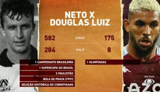 "Neto rebate Douglas Luiz: ""Eu tenho mais seguidores que o Aston Villa!"""