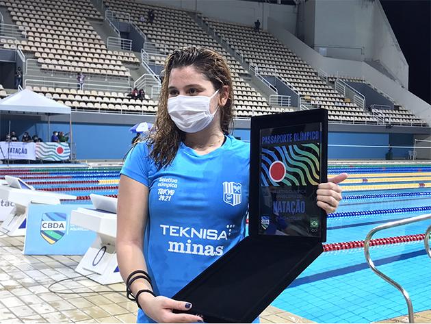 Beatriz Dizotti garante primeira vaga feminina da natação em Tóquio