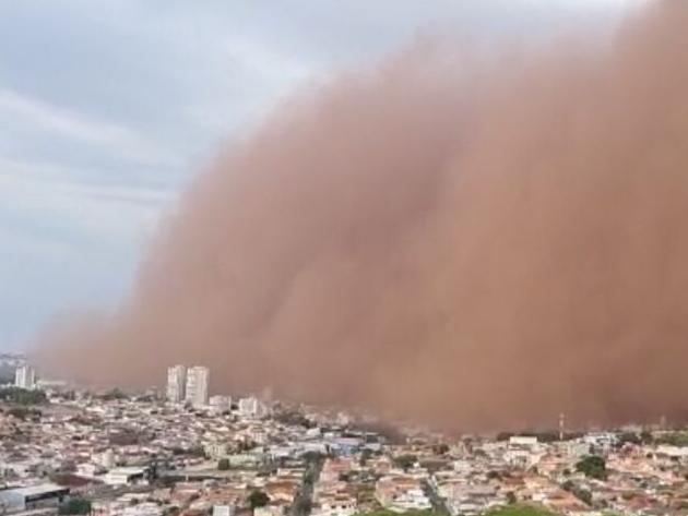 Prejuízo causado por nuvem de poeira em SP é intensificado por crise hídrica
