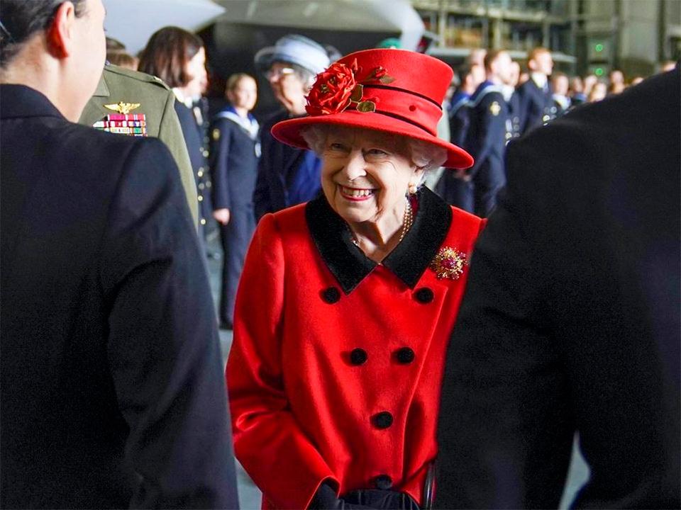Rainha Elizabeth II, a monarca do Reino Unido