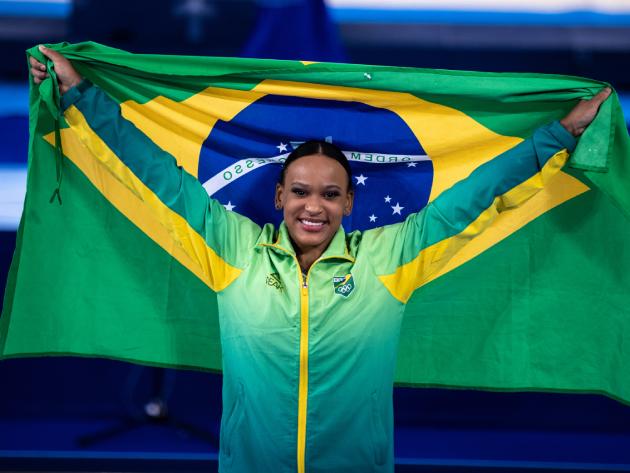 Rebeca Andrade será porta-bandeira do Brasil no encerramento dos Jogos Olímpicos de Tóquio