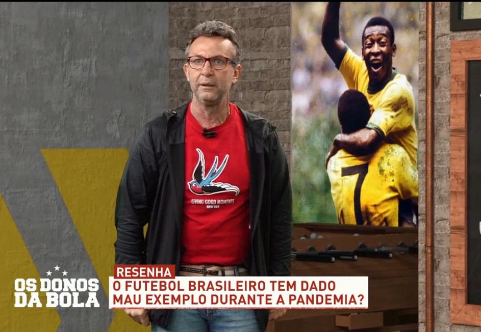 Neto questiona: futebol tem dado mau exemplo na pandemia?