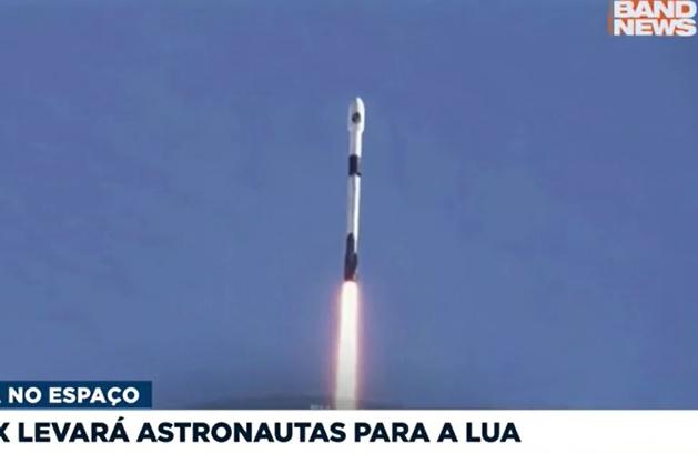 SpaceX levará astronautas à lua em 2024