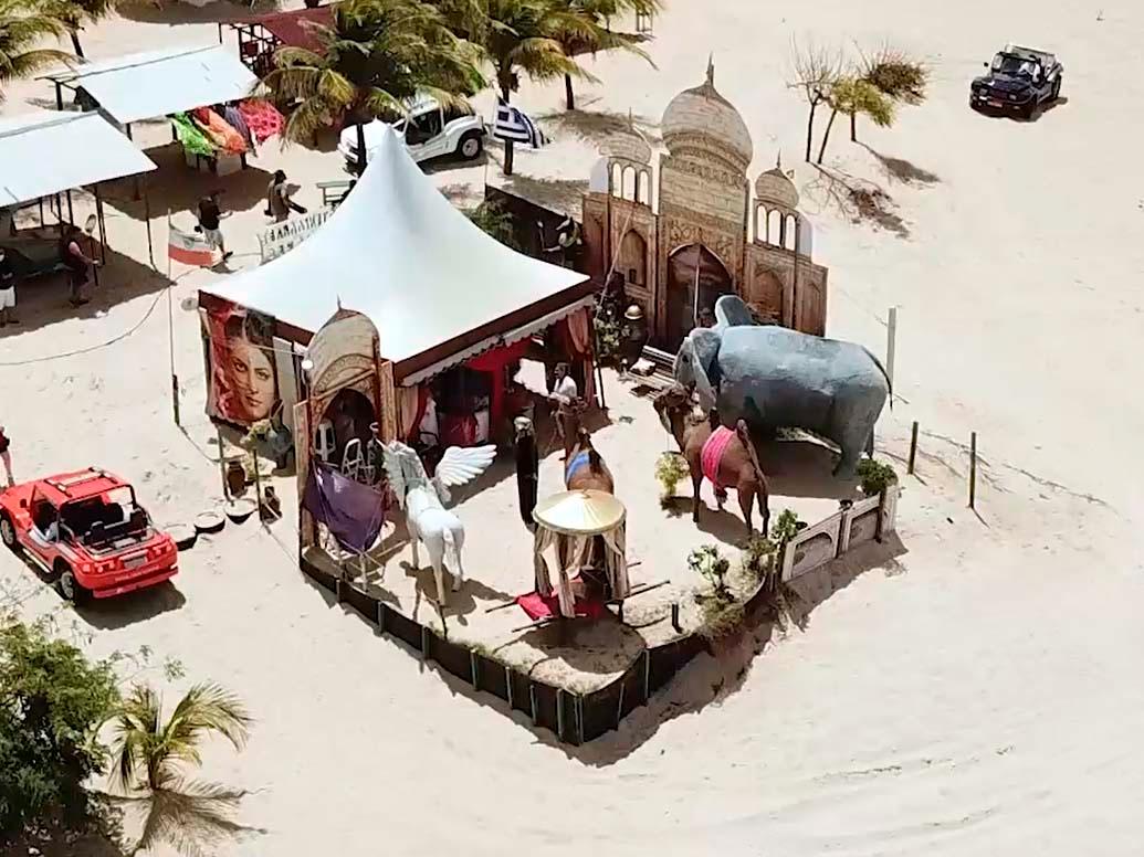 Mistura do Brasil com Egito: conheça a tenda do Sheik em RN