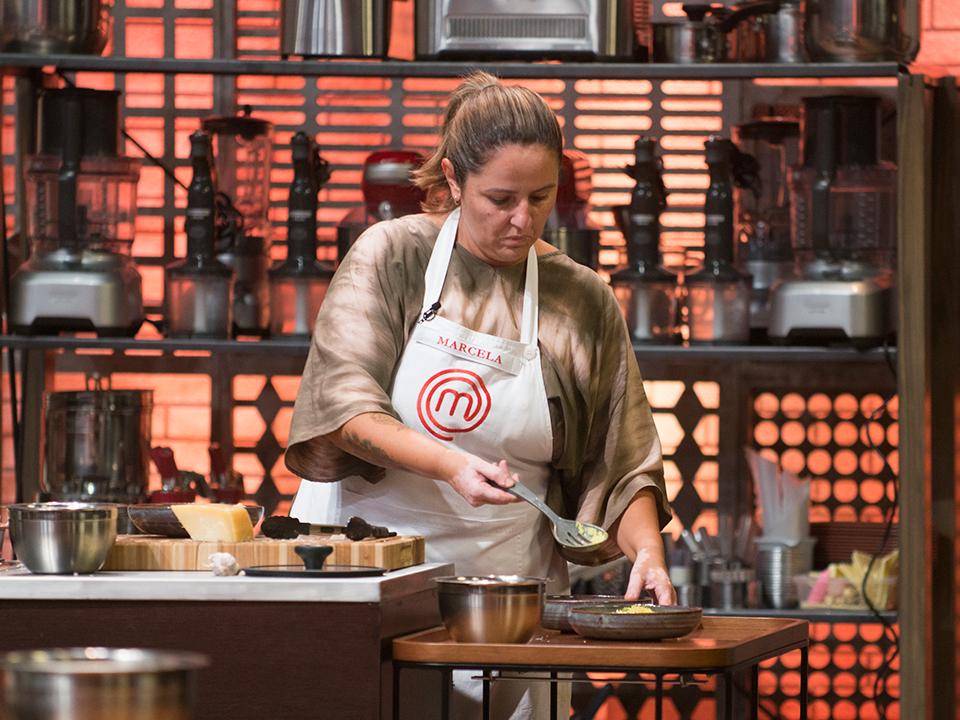 Marcela montou o prato nos segundos finais