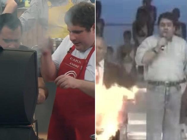 Tá pegando fogo, bicho! Fumaça em prova de churrasco no MasterChef vira meme no Twitter