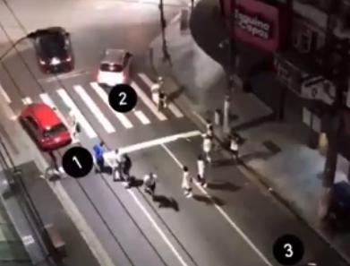 Diego Tardelli divulga imagens de emboscada feita pela torcida do Santos