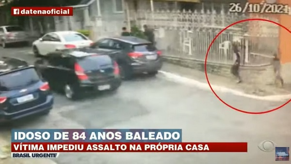 Idoso de 84 anos leva tiro na boca ao impedir assalto à própria casa em SP