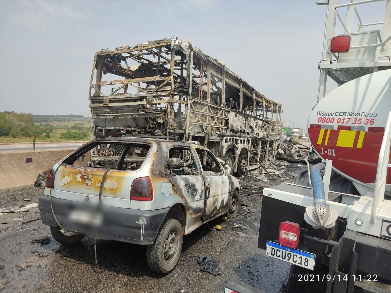 Vítimas de acidente com seis mortos na Dutra eram presos em saída temporária, diz PRF