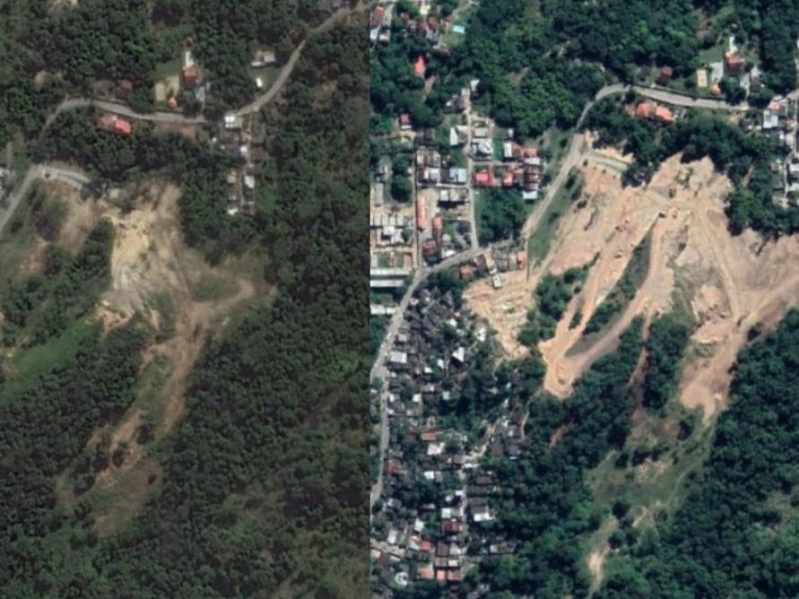 Construções irregulares da milícia avançam com desmatamento na Zona Oeste do Rio
