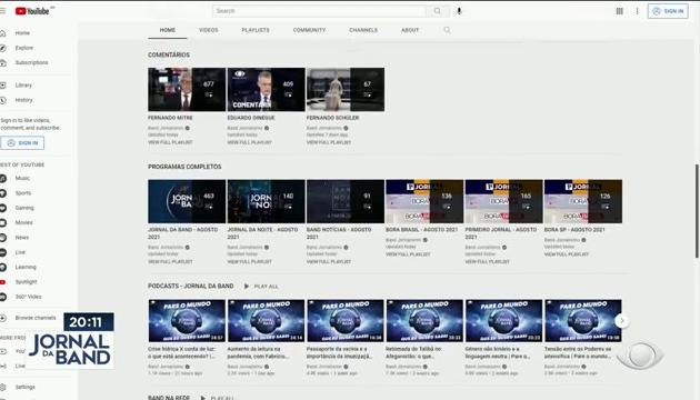 Band Jornalismo atinge 3 milhões de inscritos no YouTube