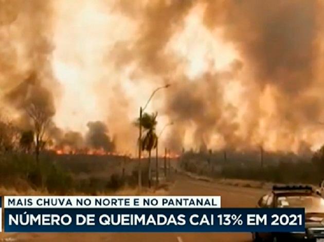 Com mais chuva no Pantanal, número de queimadas cai 13% em 2021