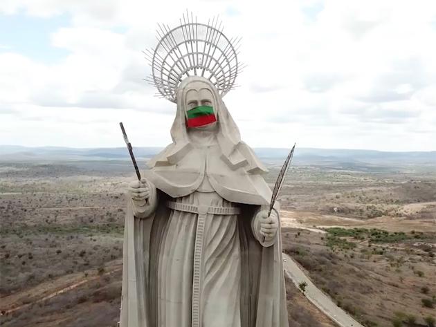 Com 56 metros, imagem de Santa Rita de Cássia no RN é a estátua sacra mais alta do mundo