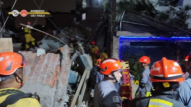 SP: Desabamento em Paraisópolis deixa um morto e quatro feridos