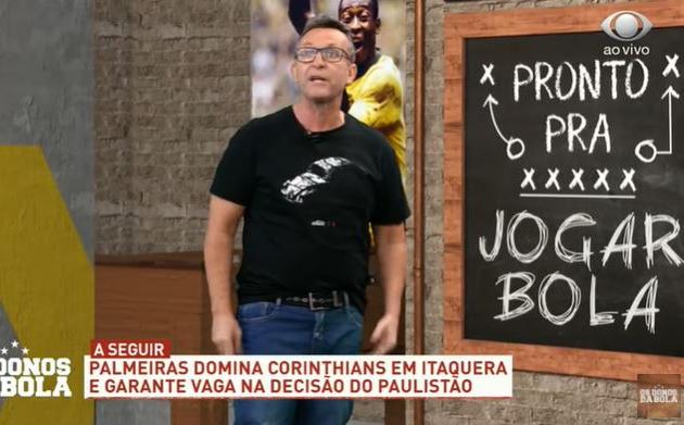"""Corinthians tira Neto do sério: """"Vão pra casa do caramba! Era pra tomar 6"""""""