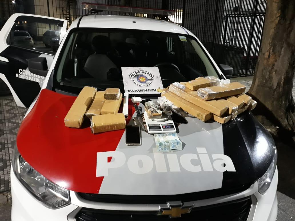 Casal é preso com 18 quilos de maconha em Taubaté