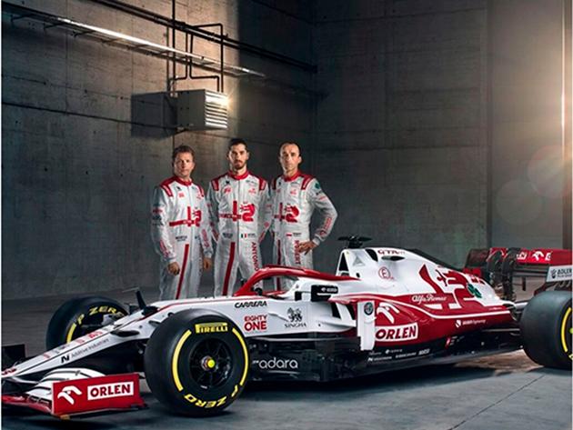 Alfa Romeo apresenta carro para a temporada 2021