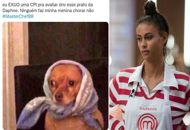 Daphne chora no MasterChef e Twitter pede CPI para reavaliar prato da competidora