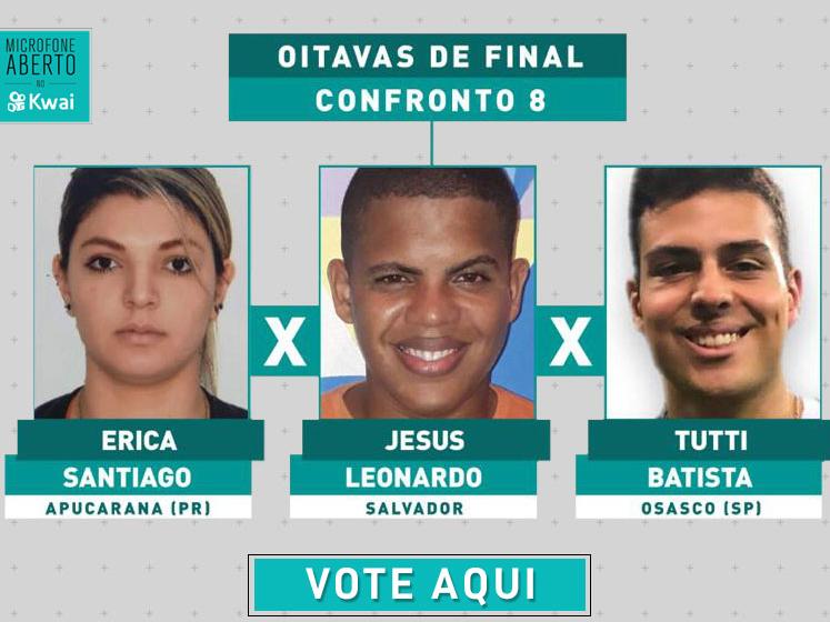 Erica, Jesus ou Tutti? Veja os vídeos e vote em quem deve seguir no Microfone Aberto!