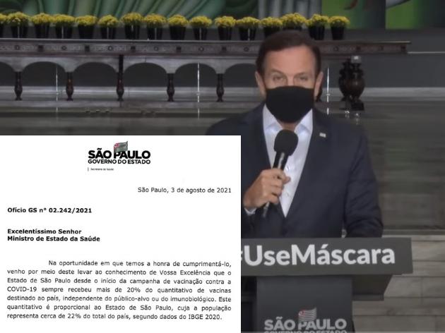 Governo de SP cobra Ministério da Saúde sobre envio reduzido de vacinas