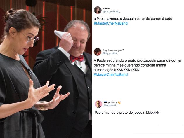 Paola Carosella vira meme após tirar prato de Jacquin no MasterChef; veja as reações