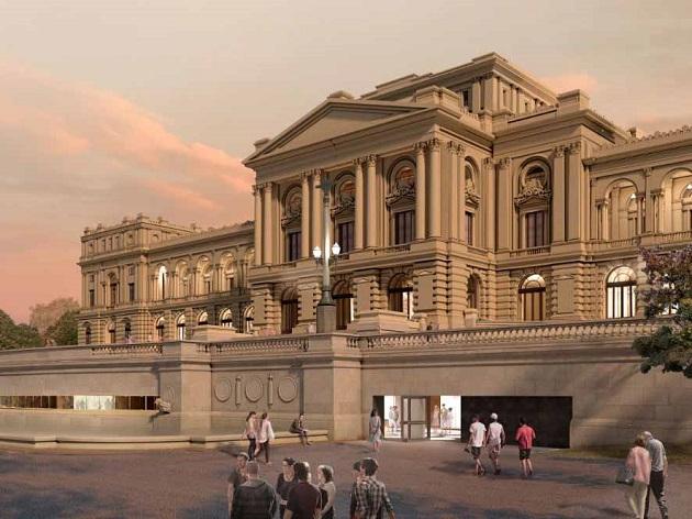Projeto do novo Museu do Ipiranga, que deve ser inaugurado em 2022