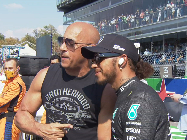 Vin Diesel e Hamilton em Monza