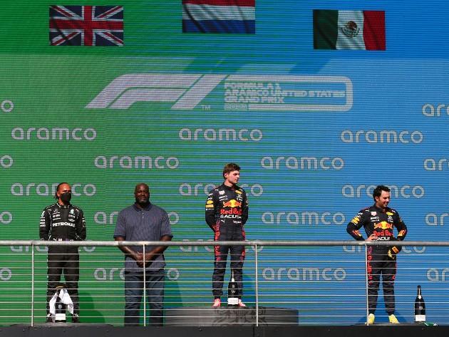 F1: GP dos Estados Unidos teve ex-astro da NBA no pódio; veja as fotos do fim de semana