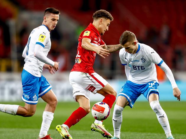 Em clássico marcado por briga, Spartak empata com o Dinamo com dois gols no fim; assista aos gols